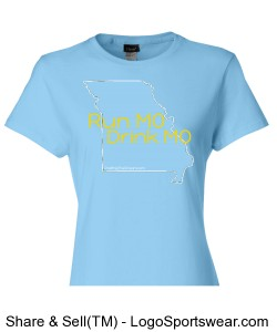 Run MO, Drink MO, Hanes Ladies 4 oz. Cool Dri T-Shirt Design Zoom