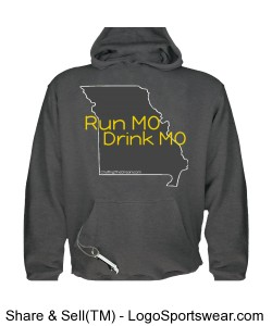 Run MO, Drink MO, Tailgate Hoodie, Unisex Design Zoom