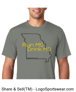 Run MO, Drink MO, Hanes 4 oz. Cool Dri T-Shirt Design Zoom