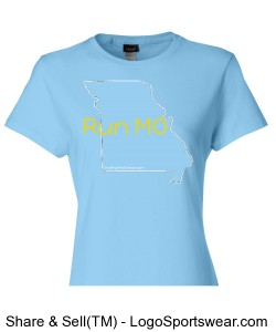 Run MO, Hanes Ladies 4 oz. Cool Dri T-Shirt Design Zoom