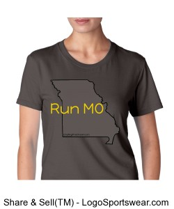 Run MO, Econscious Ladies 100% Organic Cotton Short-Sleeve T-Shirt Design Zoom