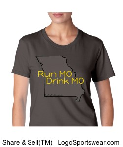 Run MO, Drink MO, Econscious Ladies 100% Organic Cotton Short-Sleeve T-Shirt Design Zoom